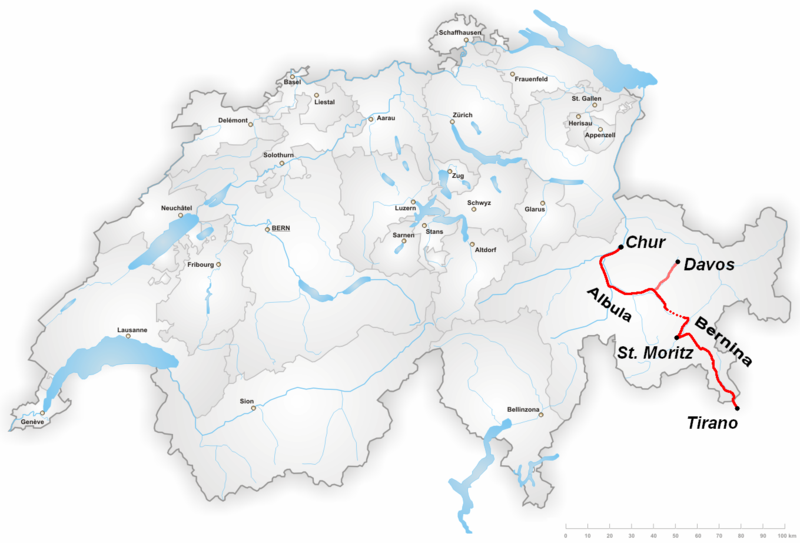 Map source : Wikipedia.org/Bernina Express