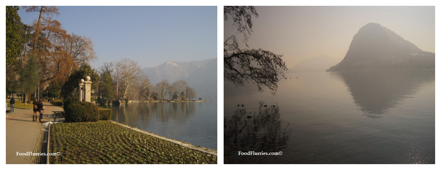 The beautiful Parco Civico, along the shores of Lake Lugano.
