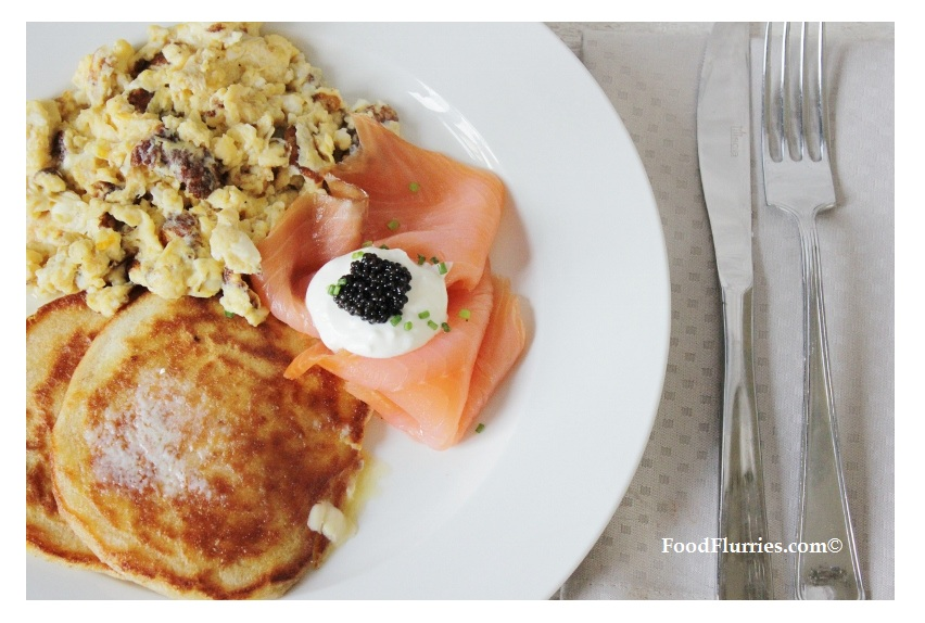 Breakfast Delights : BuckWheat Pancakes with Scrambled ...
