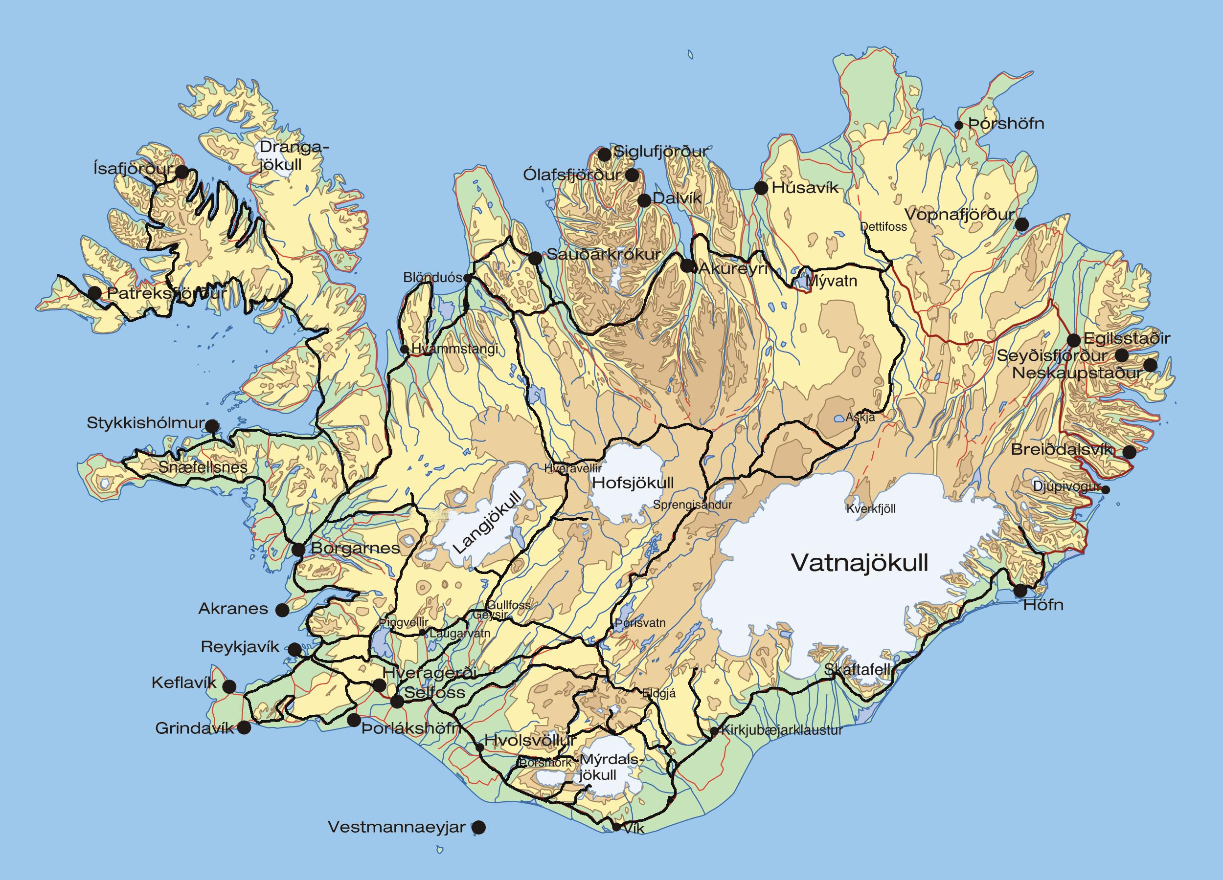 Pin Map of iceland on Pinterest