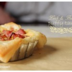 Leek & BAcon Puffy Tarts