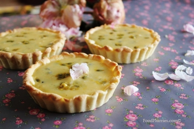 Lime + Passionfruit Curd Tarts1