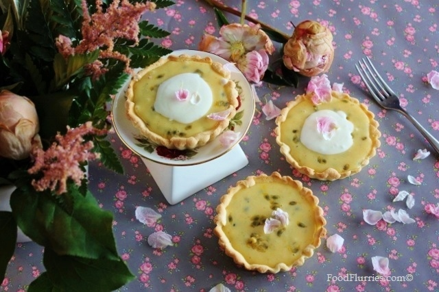 Lime + Passionfruit Curd Tarts4