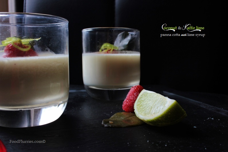 Coconut & Kaffir Lime Panna Cotta1