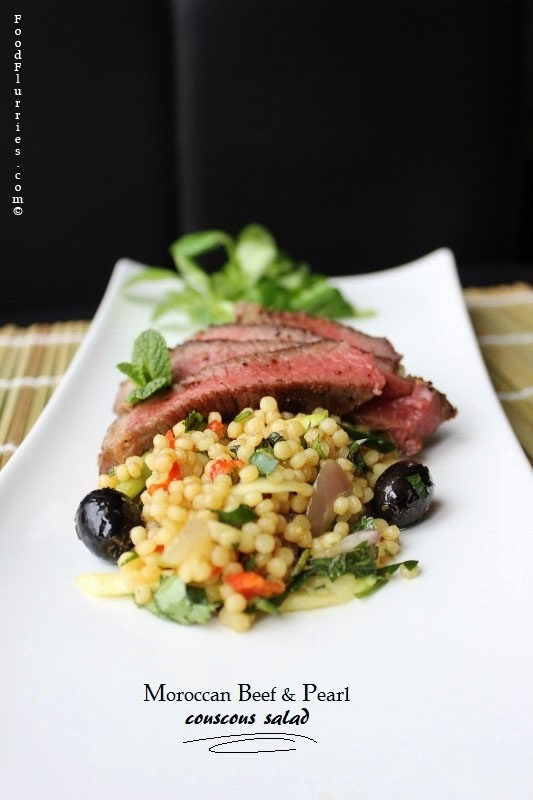 Moroccan Beef Amp Pearl Couscous Salad 187 Food Flurries