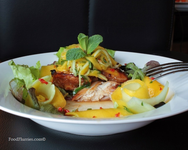 Sweet Chilli Chicken & Mango Salad with Mandarin Orange Lime Dressing4