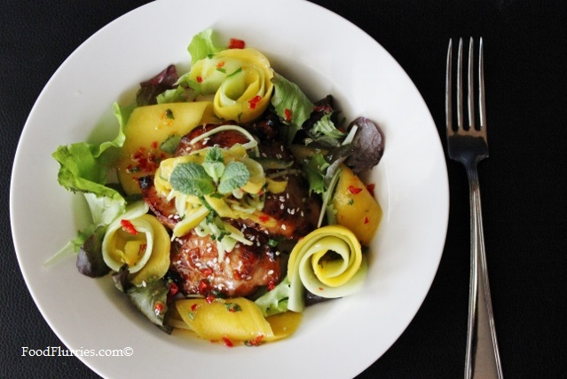 Sweet Chilli Chicken & Mango Salad with Mandarin Orange Lime Dressing7