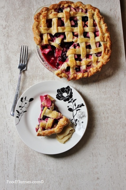 Apple & Blueberry Lattice Pie5