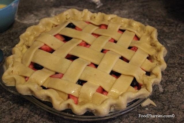 Apple & Blueberry Lattice Pie6