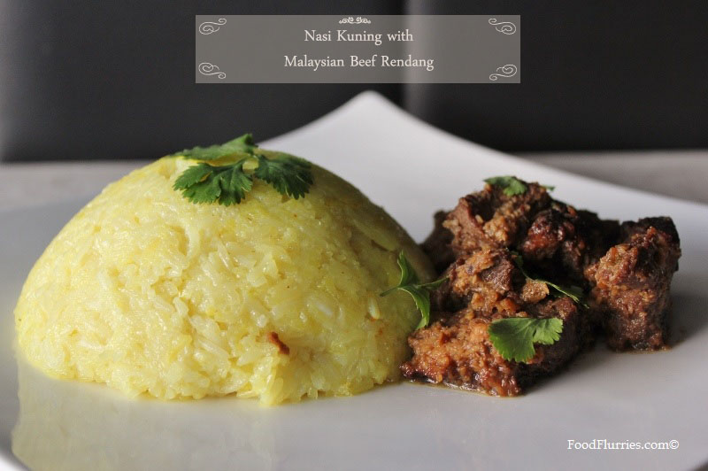 Nasi Kuning with Malaysian Beef Rendang copy