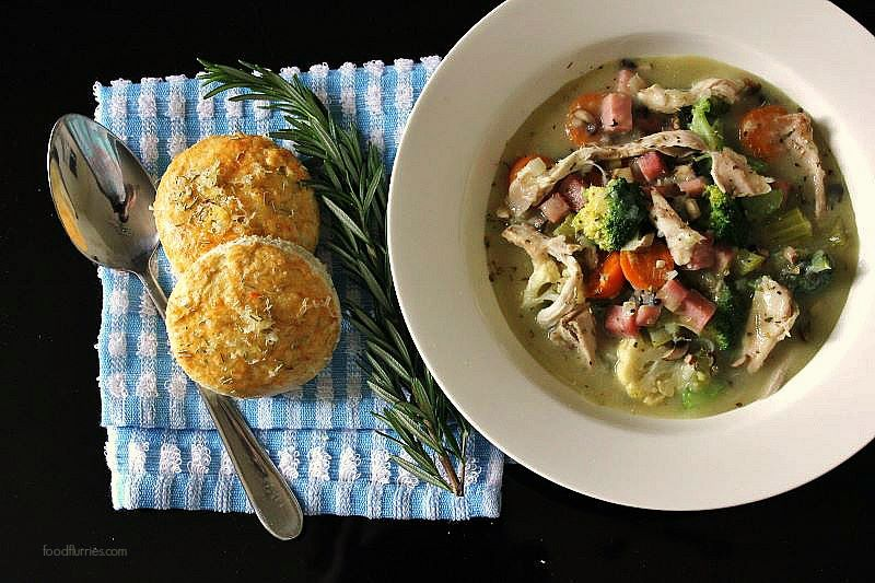 Warming Chicken Stew with Herbed Scones