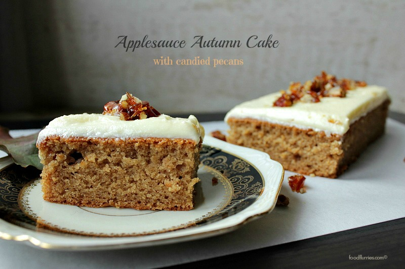 Applesauce Autumn Cake with Candied Pecans2