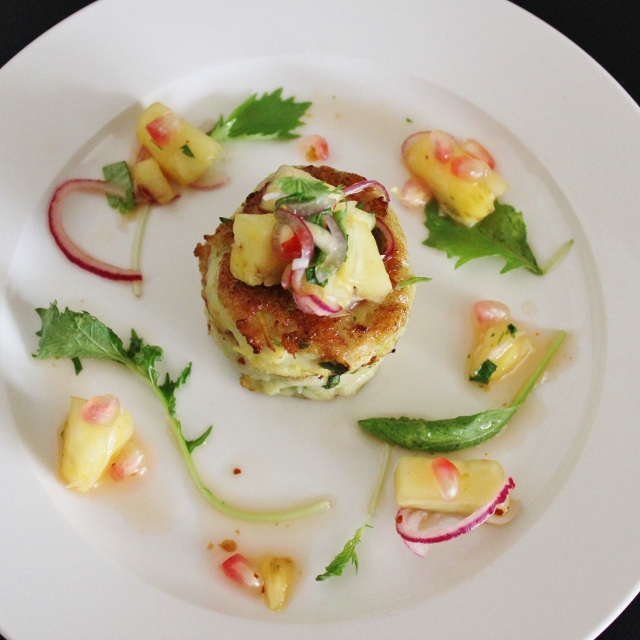 Fishcakes & Pineapple Salsa