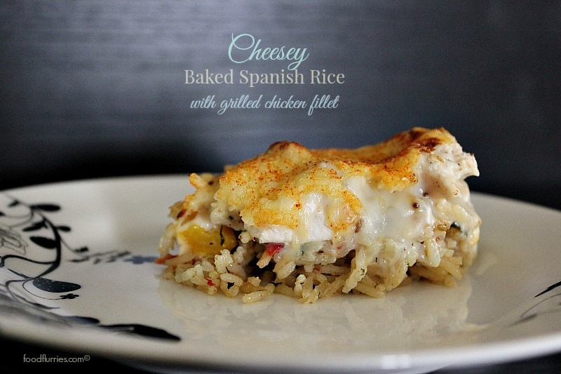 cheesey baked Spanish rice