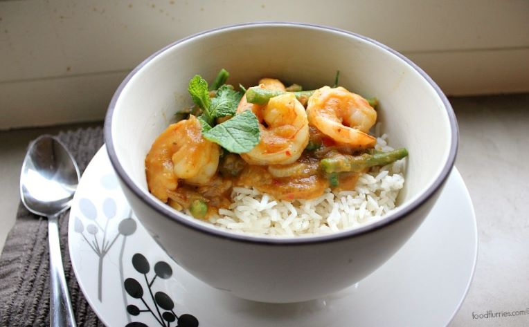 Pumpkin Curry with Prawns2