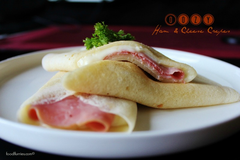 Oozy Ham & Cheese Crepes0