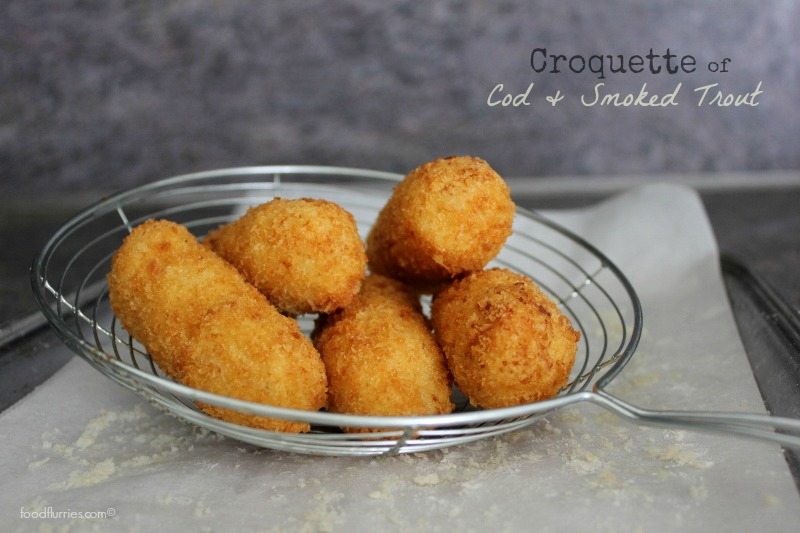 Croquette of Cod and Smoked Trout