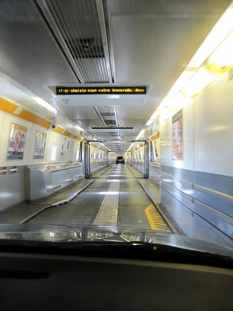 EuroTunnel train,  Calais