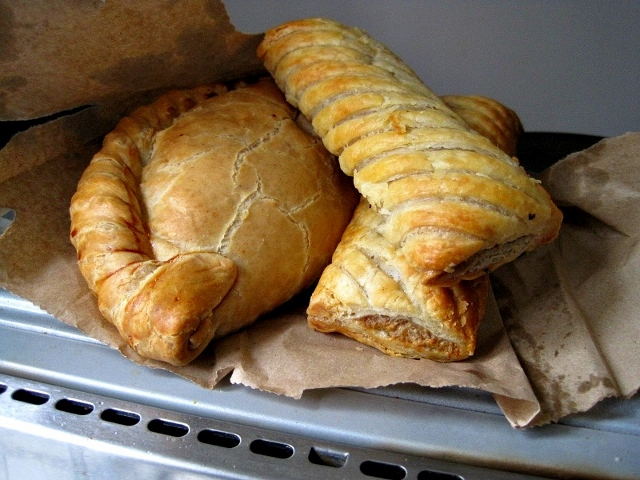 Meat Pastie & Sausage Rolls from the Filling Station, Perranporth