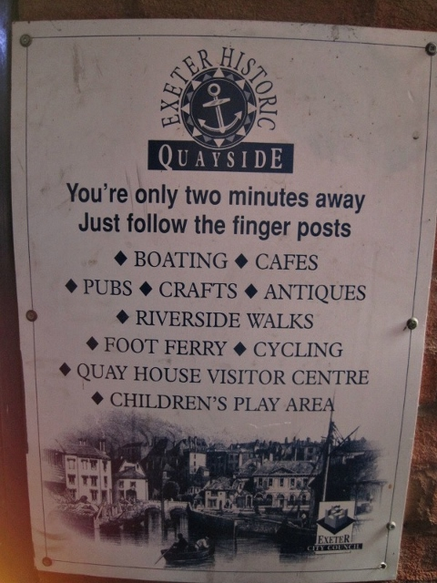 Exeter Parking Sign _ Quayside